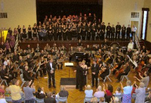 Photo of orchestra and choir